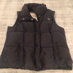 Abercrombie & Fitch Blue Puffer Vest
